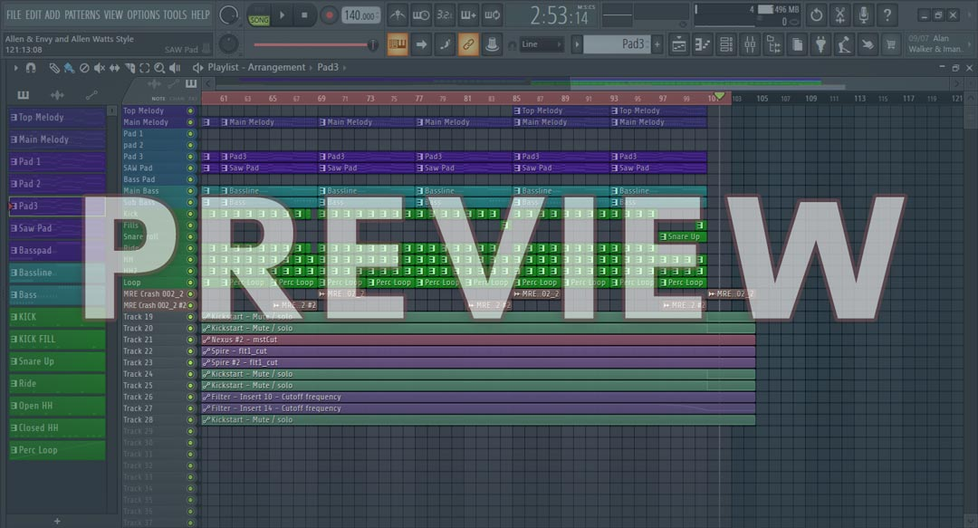 Allen & Envy and Allen Watts Style FL Studio Uplifting Trance Template