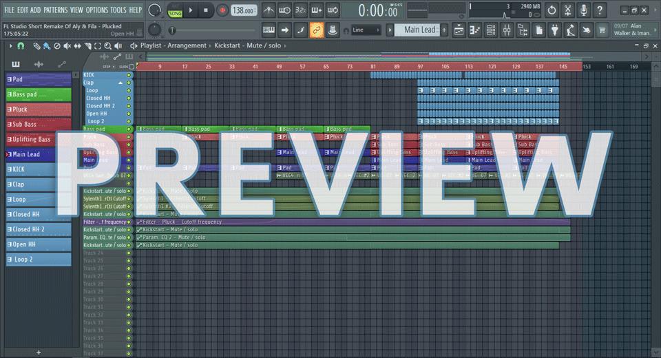 FL Studio Short Remake Of Aly & Fila - Plucked
