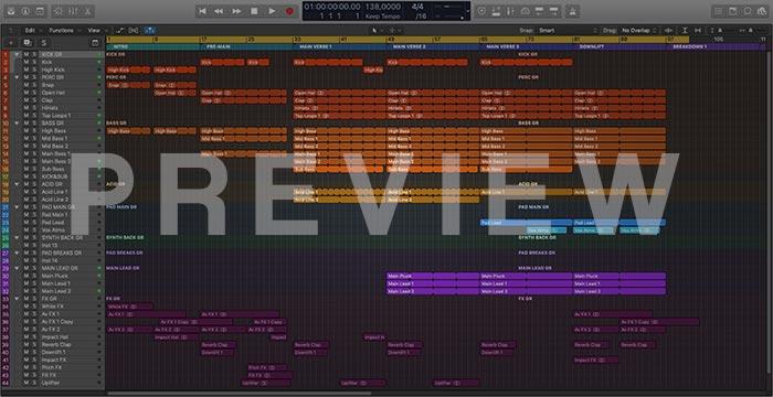Uplifting Trance Basslines Logic Pro X Template Vol. 1