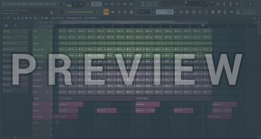 FL Studio TrancEye Style Bassline