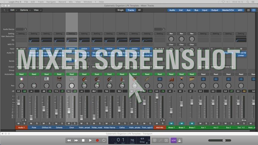Cybernetic Organism - Logic Pro X Template Mixer