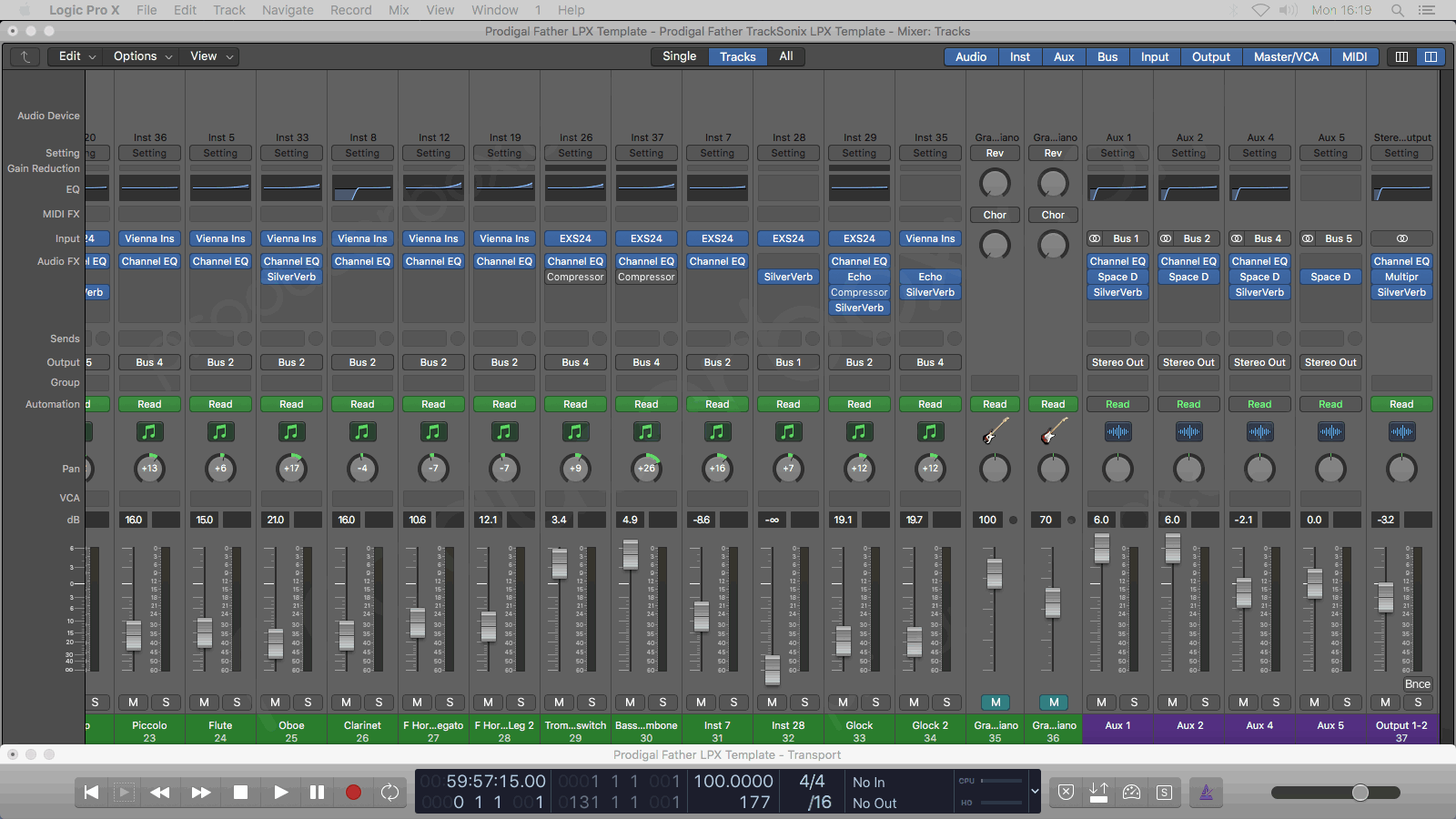 Logic Pro Mixer Preview #2