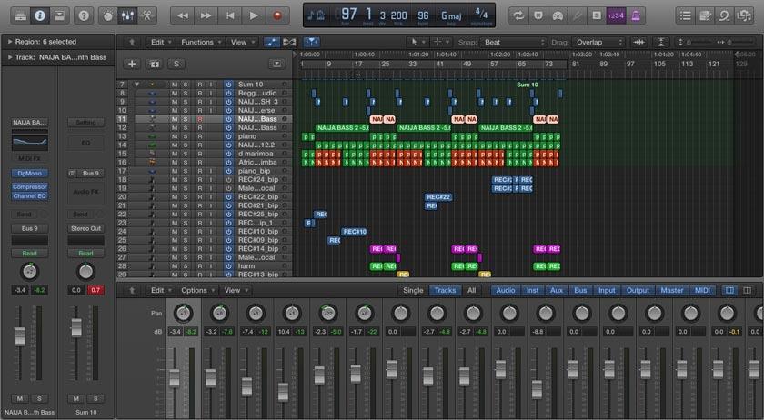 Screenshot of Onana - Afrobeat Nigerian Kind Logic Pro Template