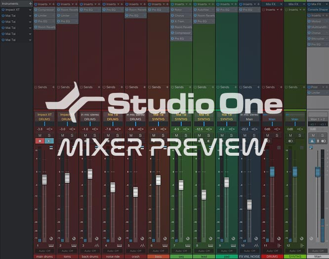 Studio One Synthwave Template Mixer Screen