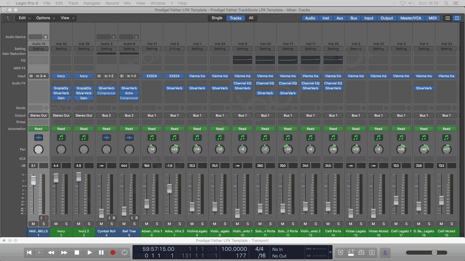 Logic Pro Mixer Preview #1