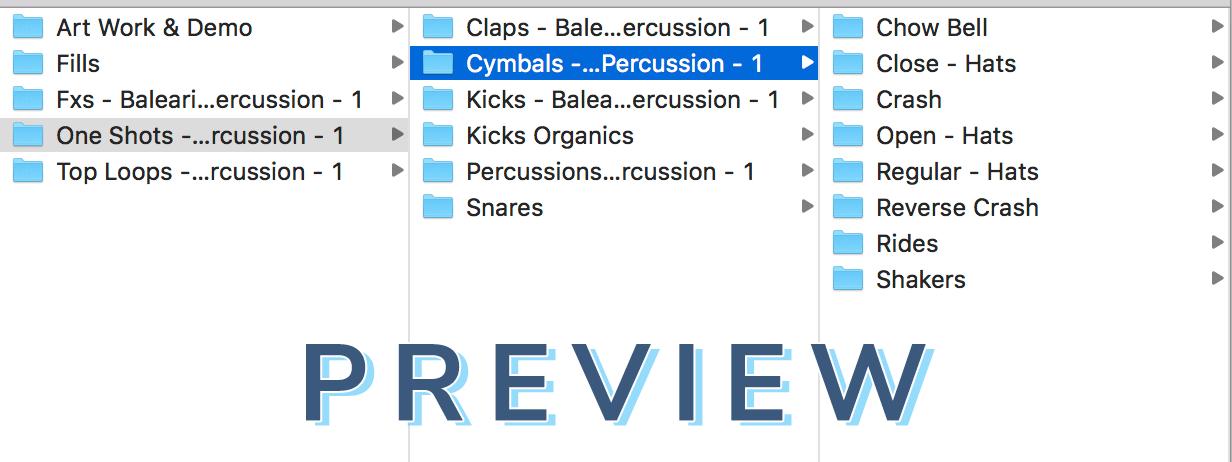 Preview Of Balearic Progressive House Percussion Vol. 1
