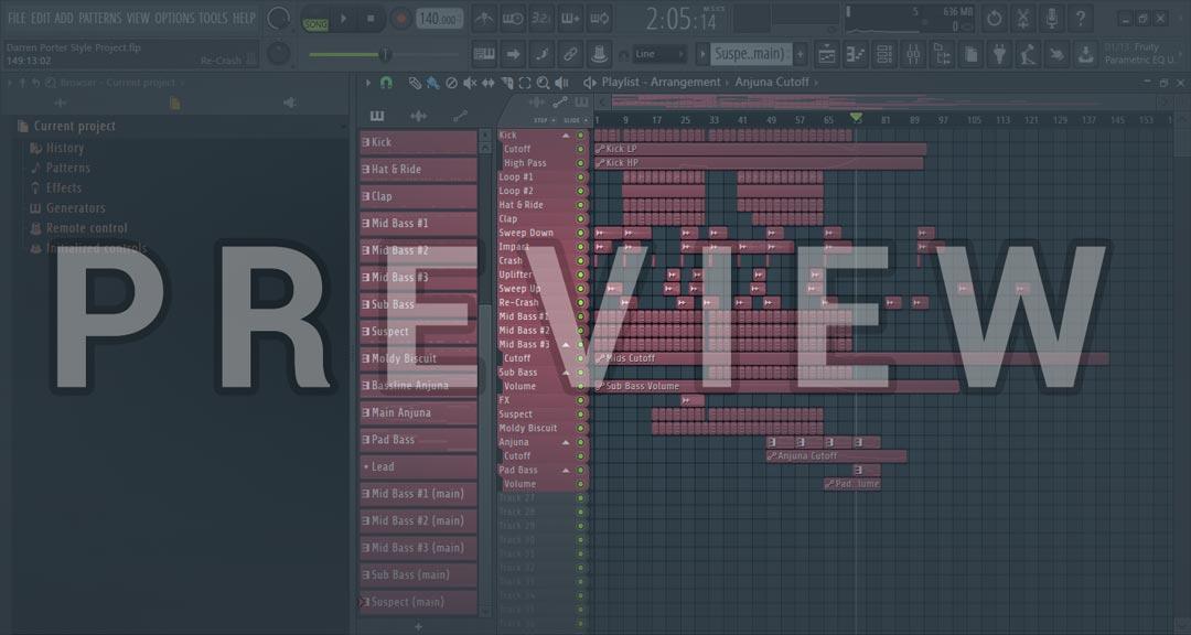 FL Studio Darren Porter Style Project Trance