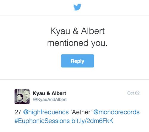 Kyau & Albert Twitter Mention