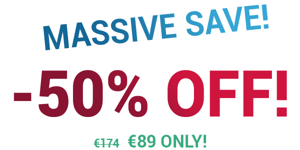 MASSIVE SAVE! -50% OFF!