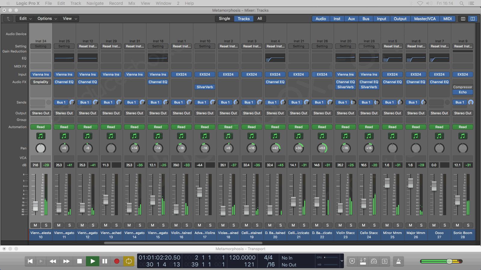 Metamorphosis - Logic Pro X Template by TrackSonix