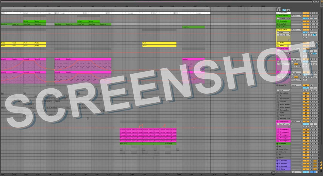 Image screenshot of Signature Leads - Uplifting Trance Ableton Live Template