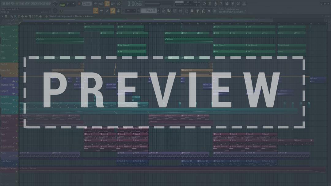 Preview Screenshot of Slap House Vol. 2 FL Studio Template