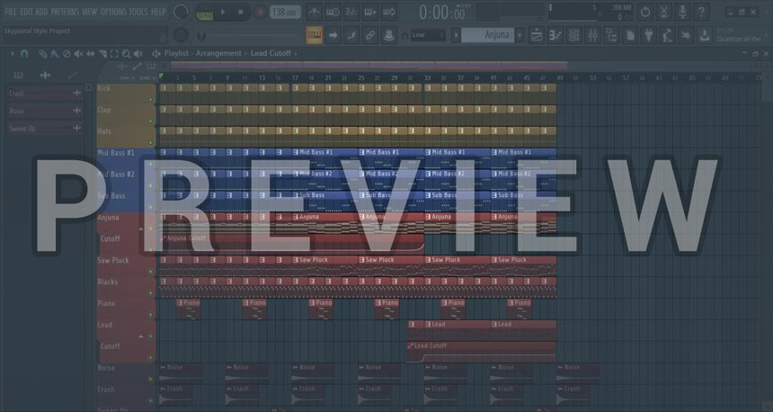 Preview of screenshot for Skypatrol Style FL Studio Project