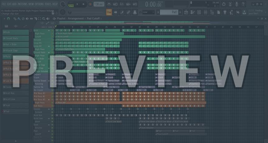 Screenshot picture of FL Studio Darren Porter Style Project Trance Vol. 2